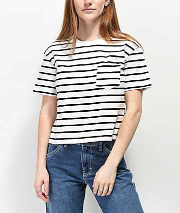 Rewash camiseta corta de rayas negras y blancas