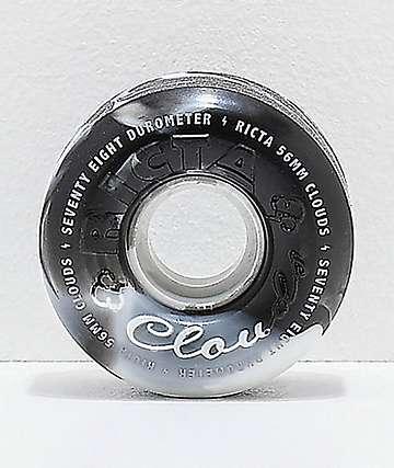 Ricta Clouds 56mm 78a ruedas de skate negras y blancas