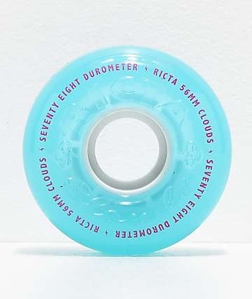 Ricta Crystal Clouds 56mm 78a Teal Skateboard Wheels