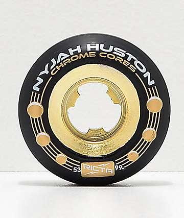 Ricta Nyjah 53mm 99a rudeas de skate doradas y negras