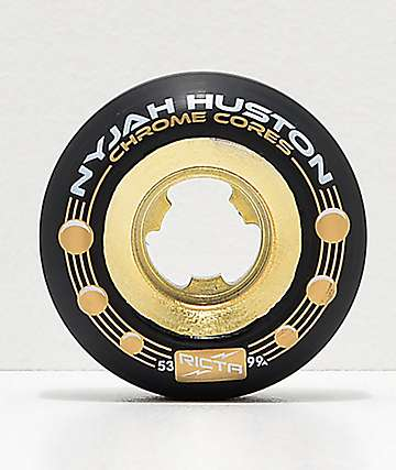 Ricta Nyjah Gold & Black 53mm 99a Skateboard Wheels