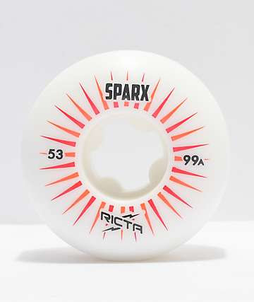Ricta Sparx 53mm 99a White Skateboard Wheels