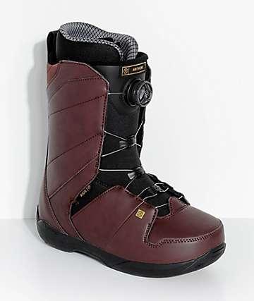 Ride Anthem Boa botas de snowboard en rojo
