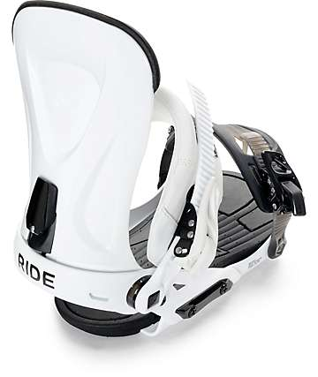 Ride Revolt White Snowboard Bindings