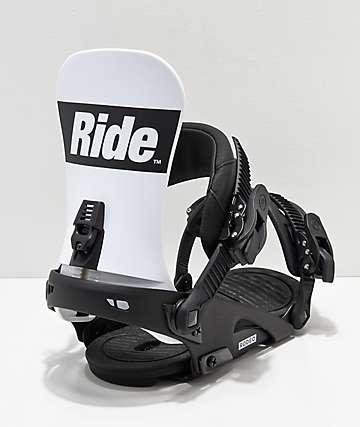 Ride Rodeo 2019 fijaciones de snowboard en blanco y negro