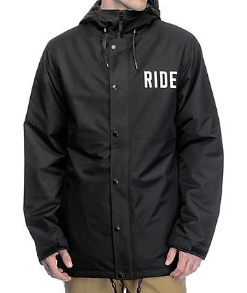 Ride x Sketchy Tank Burnout Black 10K Snowboard Coaches Jacket