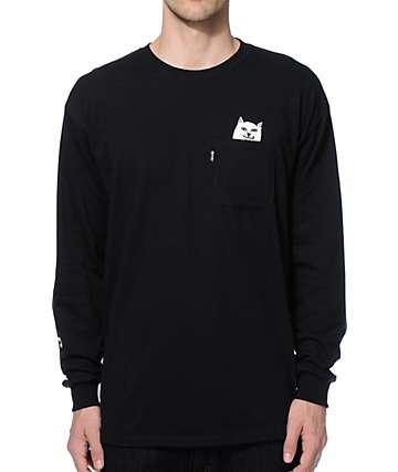 RipNDip Lord Nermal Long Sleeve Pocket T-Shirt