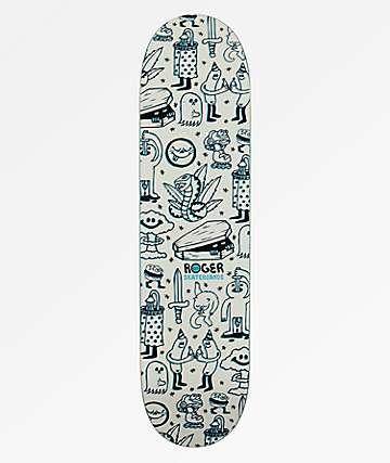 """Roger Skateboard Doodle 8.0"""" Skateboard Deck"""