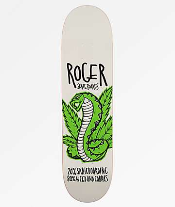 "Roger Skateboards Weed & Cobras 8.0"" Skateboard Deck"