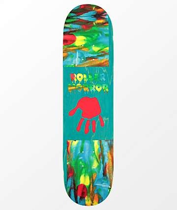"Roller Horror Finger Paint 7.75"" Skateboard Deck"