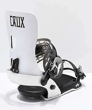 Rome Crux White Snowboard Bindings 2019