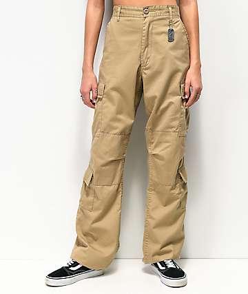 Rotcho Vintage Paratrooper Khaki Cargo Pants