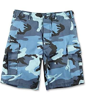 Rothco BDU Blue Camo Cargo Shorts