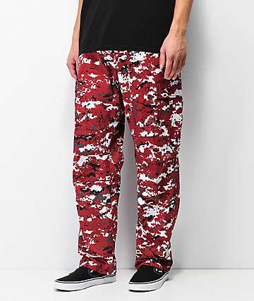 Rothco BDU Digi pantalones camuflaje rojo