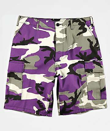Rothco BDU Purple Camo Shorts