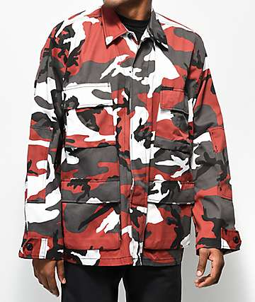 Rothco BDU Red Camo Coaches Jacket