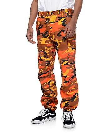 Rothco BDU Savage pantalones cargo camuflados en color naranja