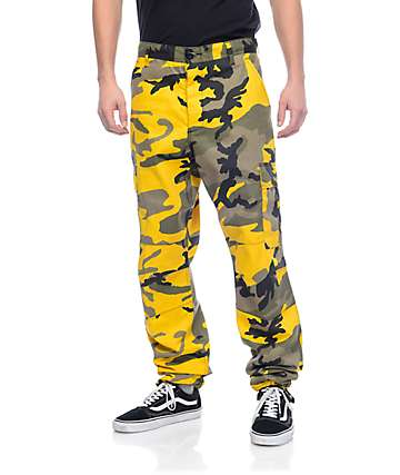 Rothco BDU Stinger Yellow Camo Cargo Pants