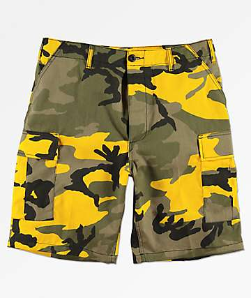 Rothco BDU Yellow Camo Shorts