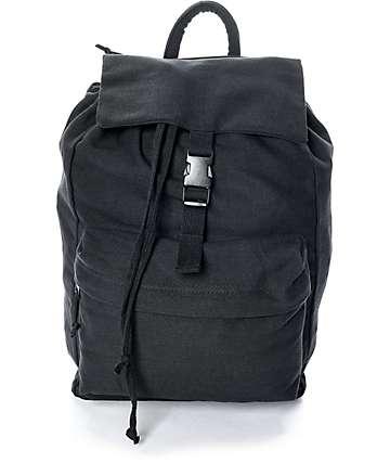 Rothco Black Canvas Backpack