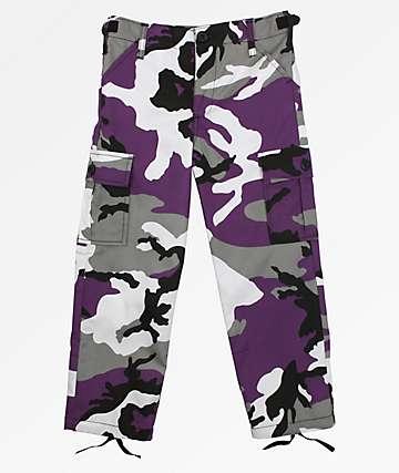 Rothco Boys BDU Ultra Violet Camo Cargo Pants