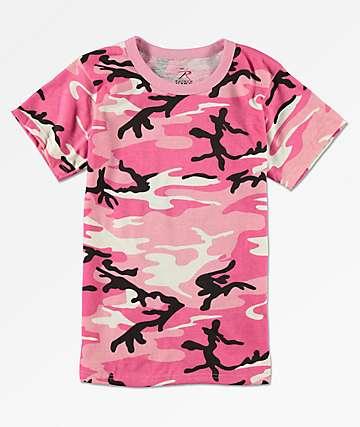 Rothco Boys Pink Camo T-Shirt