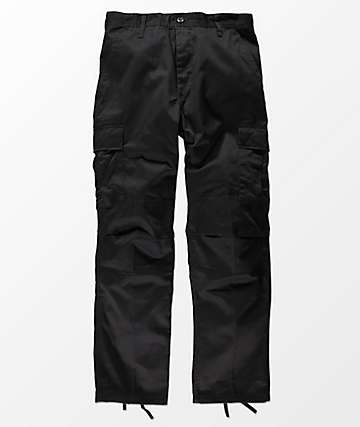 Rothco Boys Tactical BDU Black Cargo Pants