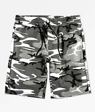 Rothco City Camo shorts de punto de camuflaje gris