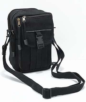 Rothco Classic Passport Black Canvas Travel Bag