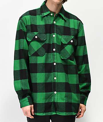 Rothco Heavy Green Flannel Shirt