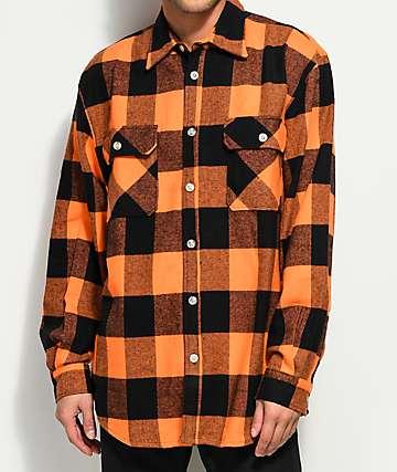 Rothco Heavy Orange Flannel Shirt