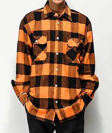 Rothco Heavyweight Orange Flannel Shirt