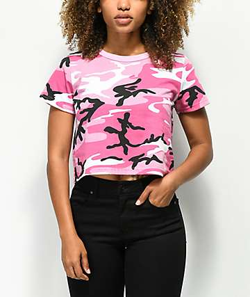 Rothco Hot Pink Camo Crop T-Shirt