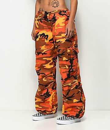 Rothco Orange Camo Vintage Fatigue Pants
