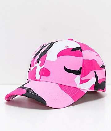 Rothco Pink Camo Strapback Hat