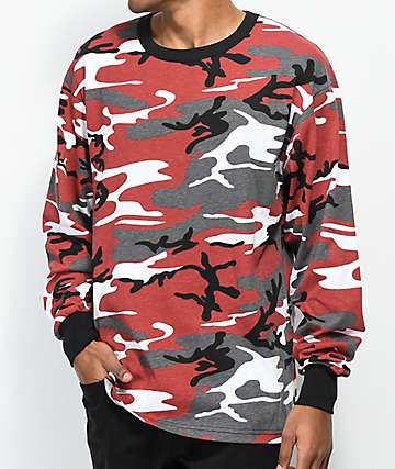 Rothco Red Camo Long Sleeve T-Shirt