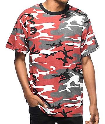 Rothco Red camiseta camuflada