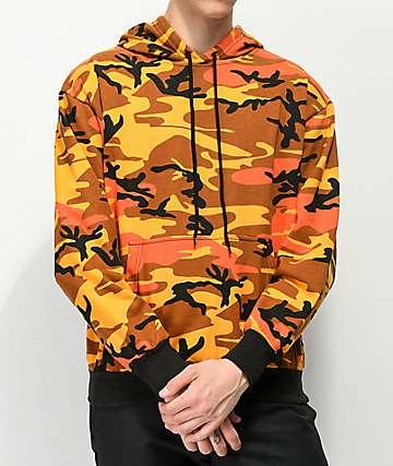 Rothco Savage Orange Camo Hoodie