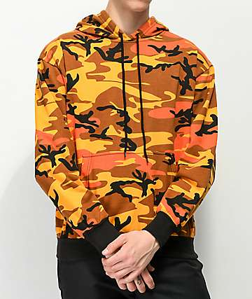 Rothco Savage Orange Camo Hoodie
