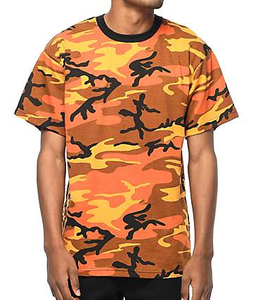Rothco Savage Orange Camo T-Shirt