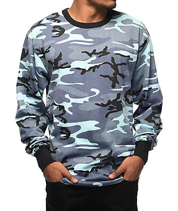 Rothco Sky Blue Camo Long Sleeve T-Shirt