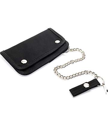 Rothco Trifold Black Chain Wallet