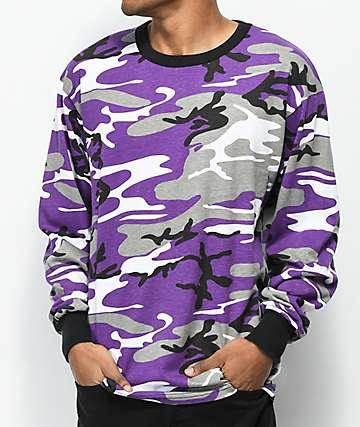 Rothco Ultra Violet Camo Long Sleeve T-Shirt