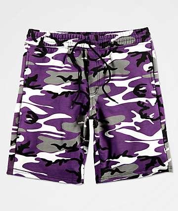Rothco Ultra Violet shorts de punto de camuflaje morado