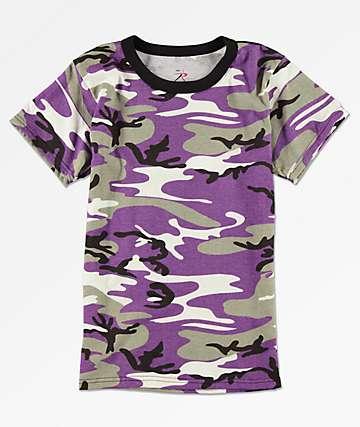 Rothco Ultra camiseta de camuflaje violeta para niños