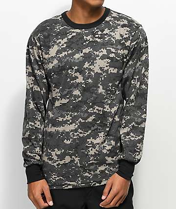 Rothco Urban Digi Camo Black Long Sleeve T-Shirt
