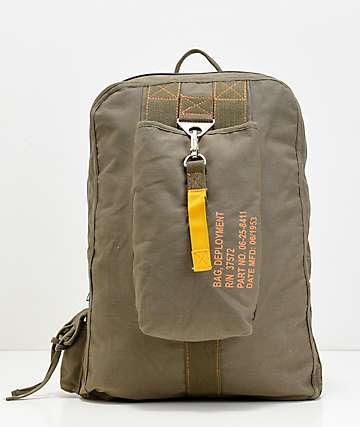 Rothco Vintage Canvas Flight Olive Backpack