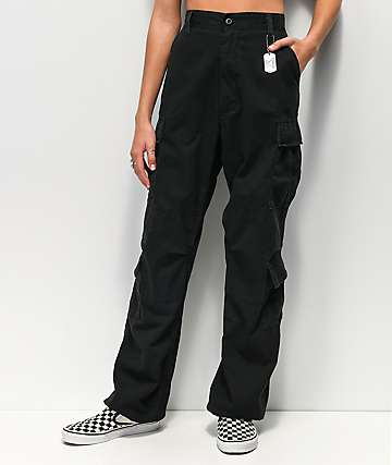 Rothco Vintage Paratrooper Black Cargo Pants