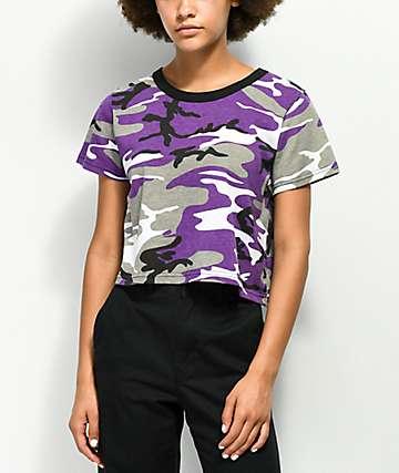 Rothco Violet Camo Cropped Shirt