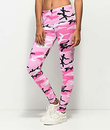Rothco Woodland Pink Camo Leggings